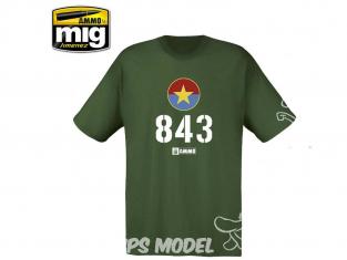 MIG T-Shirt 8031L T-shirt AMMO 843 Vietnamese T-54 taille L