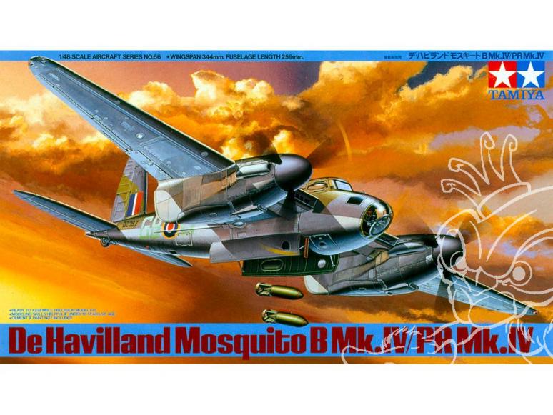 tamiya maquette avion 61066 De Havilland Mosquito B-Mk.IV 1/48