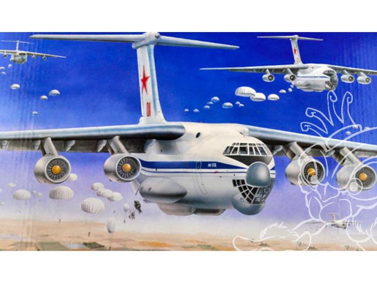 trumpeter maquette avion 03901 il-76 1/144