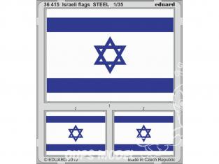 Eduard photodecoupe militaire 36415 Drapeaux d'Israel 1/35