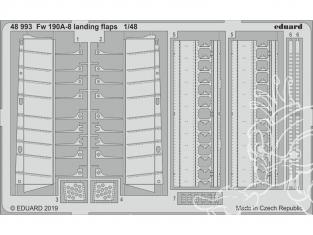 EDUARD photodecoupe avion 48993 Volets d'atterrissage Focke Wulf Fw 190A-8 Eduard 1/48