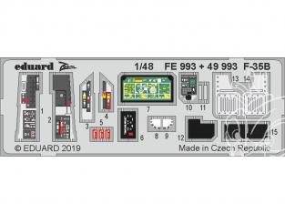 EDUARD photodecoupe avion FE993 Zoom Intérieur F-35B Kitty Hawk 1/48