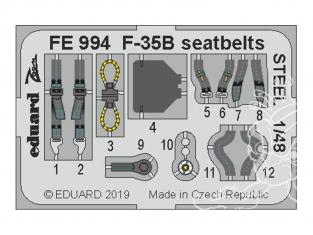 EDUARD photodecoupe avion FE994 Harnais métal F-35B Kitty Hawk 1/48