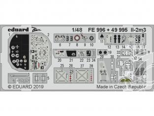EDUARD photodecoupe avion 49995 Intérieur IL-2m3 Tamiya 1/48