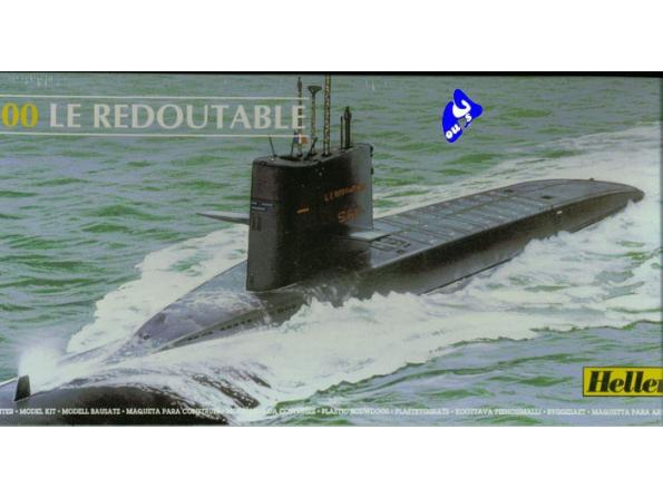 heller maquette sous marin 81075 le redoutable 1/400