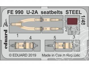 EDUARD photodecoupe avion FE990 Harnais métal U-2A Afv Club 1/48