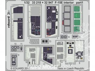 Eduard photodécoupe avion 33218 Zoom Intérieur F-15E Tamiya 1/32