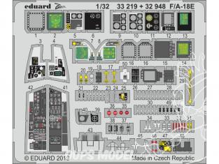 Eduard photodécoupe avion 33219 Zoom Intérieur F/A-18E Revell 1/32