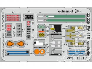 Eduard photodécoupe avion 33220 Harnais métal F/A-18E Revell 1/32