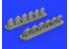Eduard kit d'amelioration brassin 632135 Pipes d'échappement P-40E Hasegawa 1/32