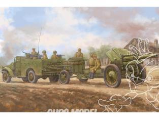 Hobby Boss maquette militaire 84537 M3A1 avec OBUSIER de 122MM M-30 ARMÉE ROUGE et 2e DB (France Libre) 1944 1/35