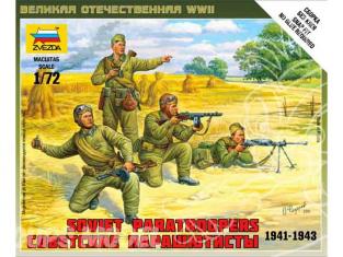 Zvezda maquette plastique 6138 parachutistes sovietique 1/72