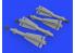 Eduard kit d'amelioration brassin 632134 Armement AIM-4D 1/32