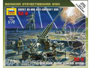 Zvezda maquette plastique 6148 canon 85mm anti aérien sovietique 1/72