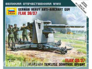 Zvezda maquette plastique 6158 canon Flak 36/37 anti aérien allemand 1/72