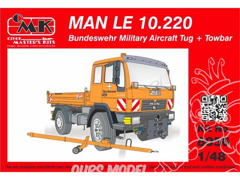 CMK kit resine 8056 MAN LE 10.220 Remorqueur d'avions militaires de la Bundeswehr avec Attelage 1/35