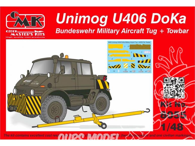 CMK kit resine 8055 Unimog U406 DoKa Remorqueur d'avions militaires de la Bundeswehr avec Attelage 1/35