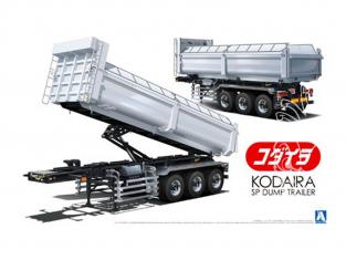 Aoshima maquette camion 27332 Remorque benne basculante Kodaira 1/32