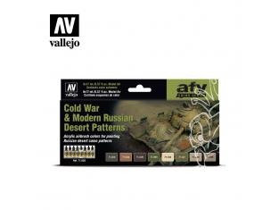 Vallejo Set Afv Color series 71620 Guerres du Moyen-Orient (de 1967 à nos jours) 8x17ml