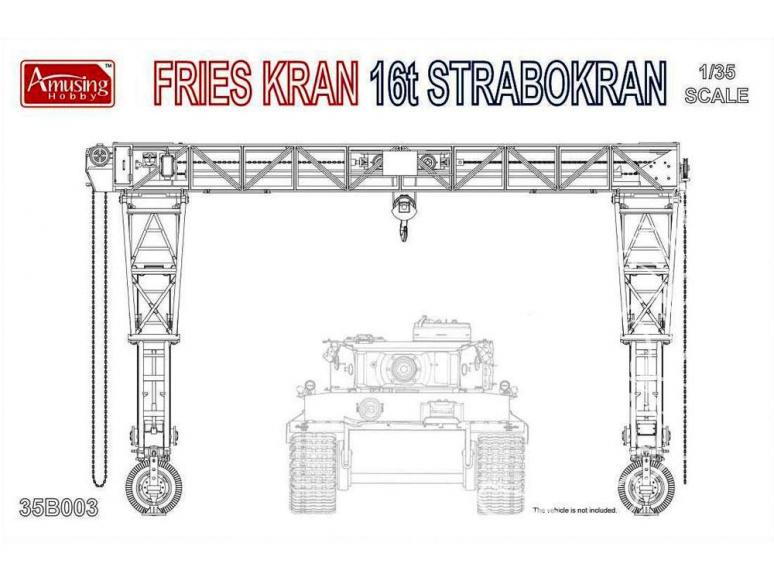 Amusing maquette militaire 35B003 Grue Frieskran 16t Strabokran 1/35