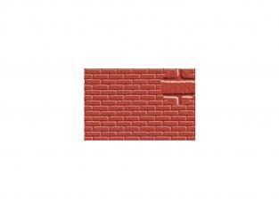 Slaters 404 Feuille de polystyrène immitation brique rouge 7mm
