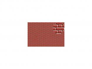 Slaters 407 Feuille de polystyrène immitation brique rouge 4mm
