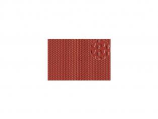 Slaters 444 Feuille de polystyrène imitation toiture pantille rouge 2mm
