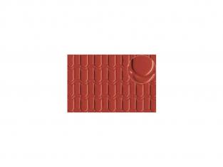 Slaters 440 Feuille de polystyrène imitation toiture tuile large rouge 7mm