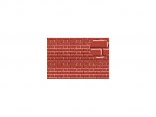 Slaters 410 Feuille de polystyrène imitation brique rouge 7mm