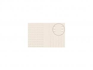 Slaters 431 Feuille de polystyrène imitation rivets beige de toutes tailles