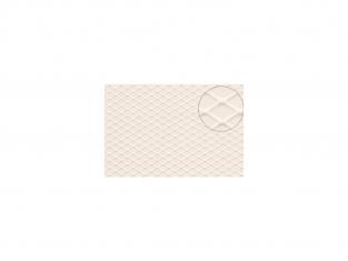 Slaters 446 Feuille de polystyrène imitation Plaque de damier blanche 4mm