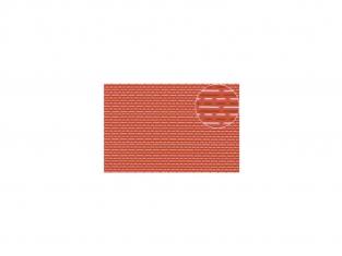 Slaters 445 Feuille de polystyrène imitation brique rouge 3mm 1/100