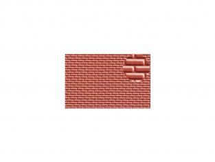 Slaters 401 Feuille de polystyrène imitation brique rouge 4mm