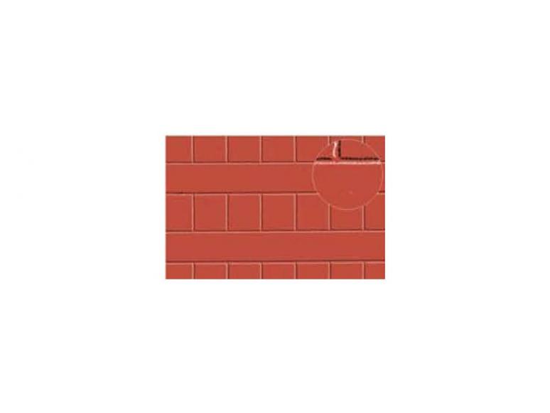 Slaters 428 Feuille de polystyrène imitation tuile de toiture rouge 7mm