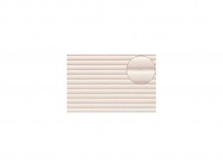 Slaters 437 Feuille de polystyrène imitation ondulé blanc 7mm d'épaisseur