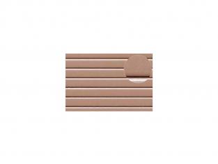 Slaters 434 Feuille de polystyrène imitation planches espacées beige 4mm