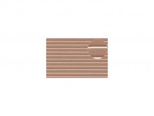 Slaters 433 Feuille de polystyrène imitation planches espacées beige 2mm