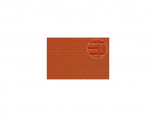 Slaters 454 Feuille de polystyrène imitation pavage de brique rouge 4mm