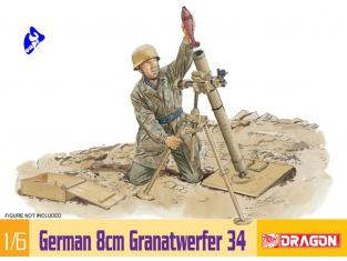 Dragon maquette militaire 75009 German 8cm Granatwerfer 34 1/6