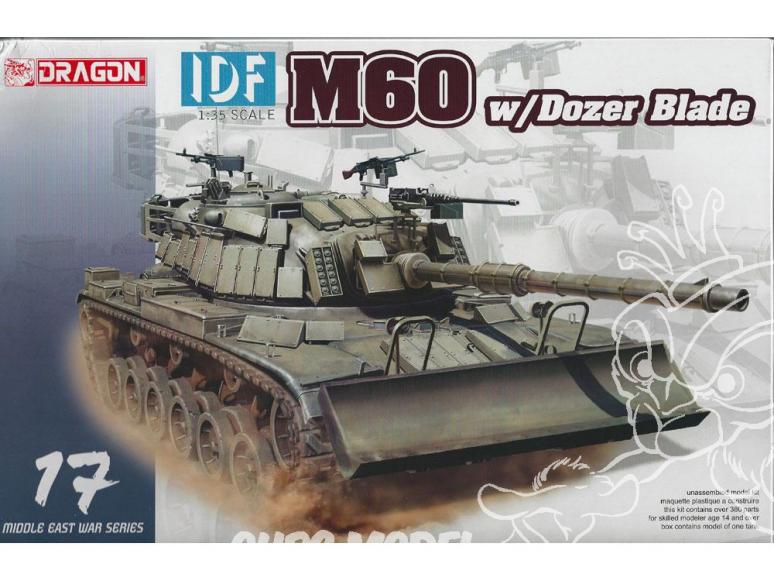 Dragon maquette militaire 3582 IDF M60 avec lame de Déblaiement 1/35