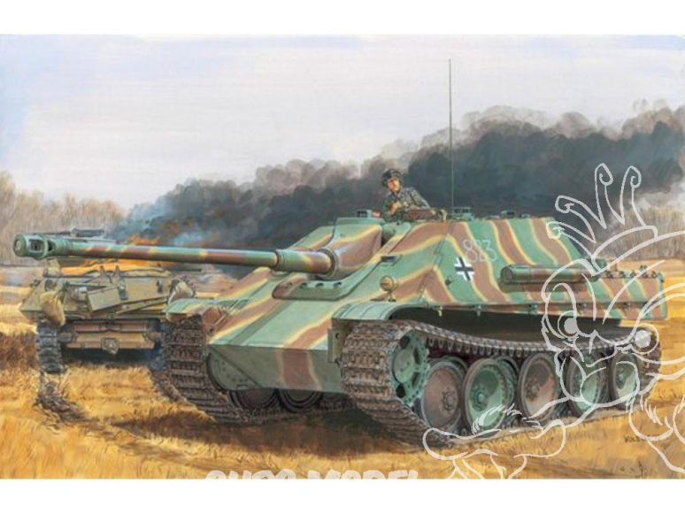 Dragon maquette militaire 6924 Jagdpanther Ausf.G1 Late Production / Ausf.G2 (2 in 1) 1/35