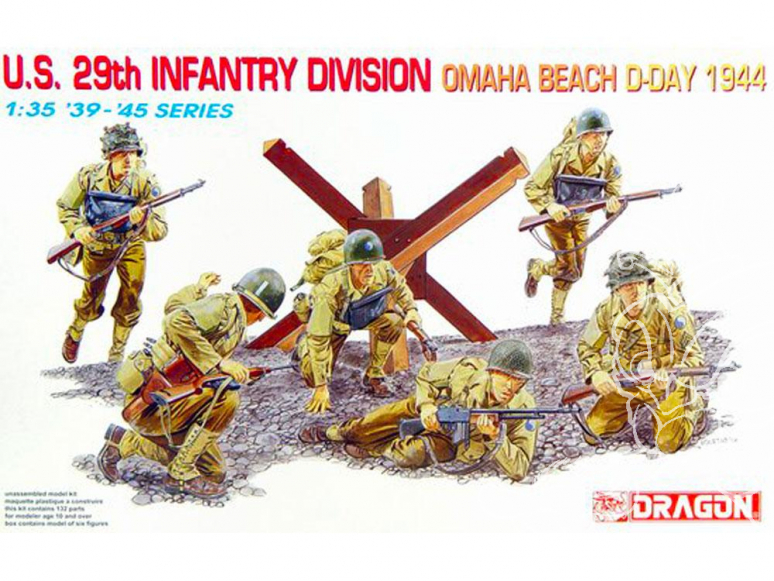 dragon maquette militaire 6211 U.S. 29th Infantry Division Omaha Beach, D-Day 1944 1/35