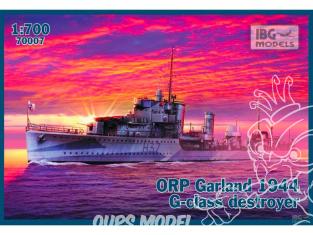IBG maquette bateau 70007 ORP Garland 1944 1/700