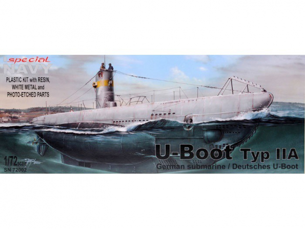 Special navy maquette sous marin 72002 U Boot Type IIA 1/72
