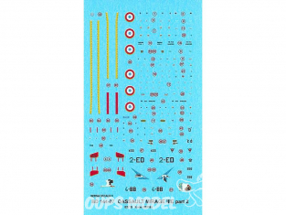 DECALQUES BERNA DECALS BD144-27 Dassault Mirage IIIE part 2 1/144