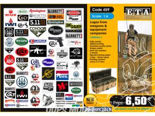 ETA diorama 459 logos pour armes et equipement 1/6