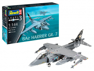 Revell maquette avion Model set 63887 BAe Harrier GR.7 1/144
