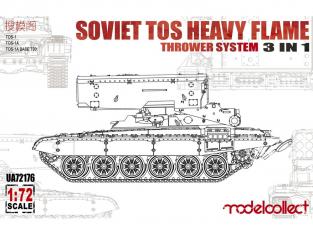 Modelcollect maquette militaire 72176 Système de lance-froquettes lourd TOS soviétique 3 en 1 1/72