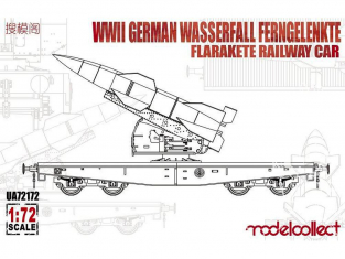 Modelcollect maquette militaire 72172 Wagon allemand avec missile Wasserfall Ferngelenkte FlaRakete 1/72