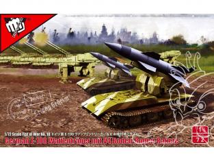 Modelcollect maquette militaire 72190 Missile balistique tactique V4 allemande sur Waffentrager Auf E100 WWII 1/72